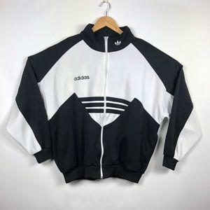Vintage 90's Adidas Fleece Track Jacket Sz Large